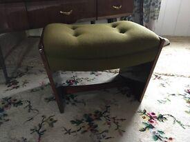 Vintage 1960s Meredew bedroom stool