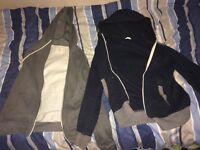 2 plain hoodies
