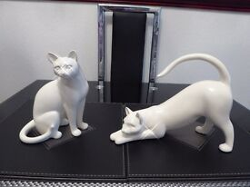 Stunning White Cat Ornaments