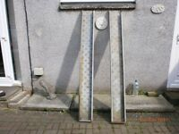2 GALVANISED RAMPS FOR TRAILER OR BIKES ONTO A TRAILER