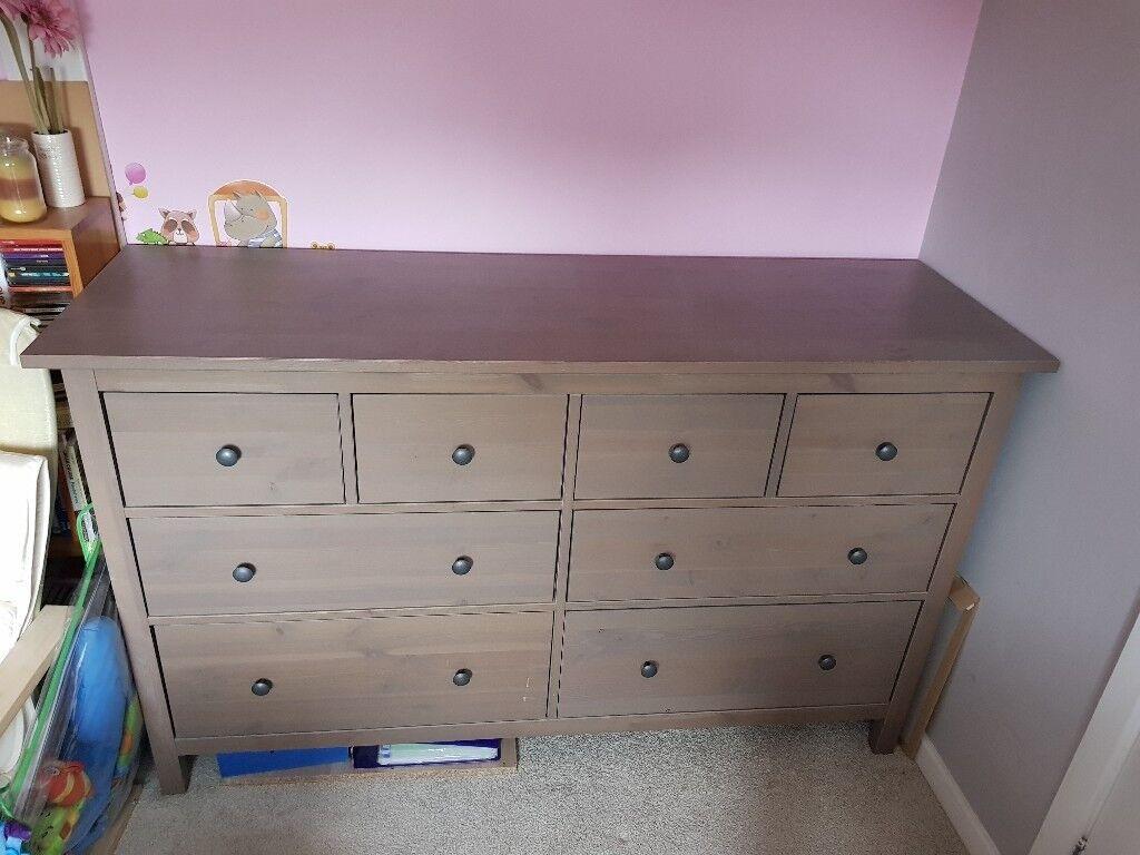 Ikea Hemnes 8 Drawer Dresser In Grey Brown