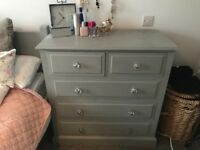 Grey shabby chic bedroom furniture set