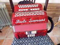 a 2 row BC Tunning in good condition accordion