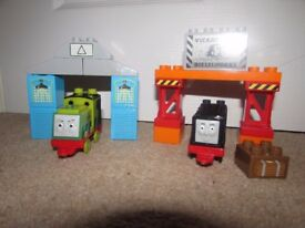 Mega Bloks Scruff and Diesel sets (Thomas the Tank Engine)