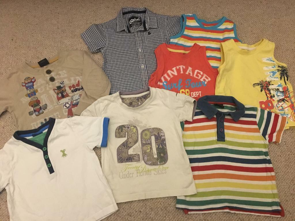 985ad1bc944 Large bundle boys summer tops 18-24 months