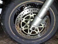 Honda Fireblade full front end breaking 919 forks discs wheel 07870516938