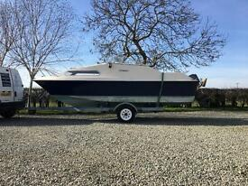 Shetland 570 Boat and Mariner 60hp outboard