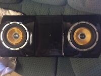 Twin vibe 1300 watt 10 inch subs with amp. car subwoofer