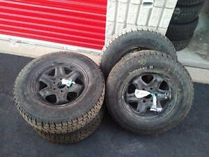 STUDDED CHEVROLET TRAVERSE WINTER TIRES AND RIMS 245/70R/17 COOPER DISCOVER 245/70/17 STUD