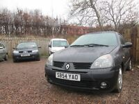 RENAULT CLIO 1.2 LTR PETROL 2004 54 1 YEAR MOT LOW MILES!!!