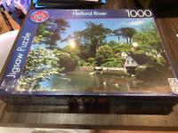 Belford River large jigsaw unopened 1000 pieces 70x50cm