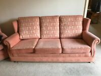 Lovely 3- Seater Sofa and Arm Chair