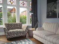 Cream/Taupe M&S MARKS & SPENCER 'Barletta' Loveseat Snuggle Chair Sofa Armchair