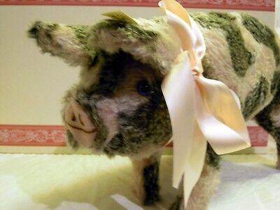Steiff 401190: Schwein 1926 - gefleckt 30, seltene Replica von 1995, N E U & OVP