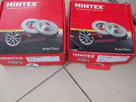 Brand New Brake Discs Front and Rear Mintex MDC644 and MDC1023 Rover MG Brakes POOLE