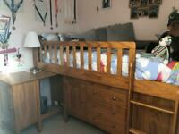M&S Hastings Kids Wood Sleepstation Cabin Bed Set