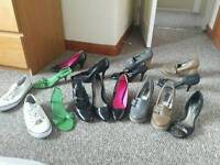 Assortment of new & used heels and flats