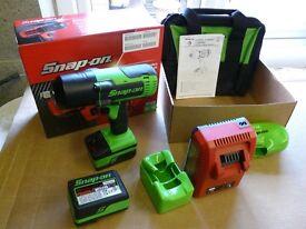 "Snap on 18v 1/2"" green Monster Lithium Cordless Impact gun Wrench New"