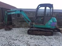 Komatsu PC20 Mini Digger Excavator Track Machine 2.5 Ton No Vat