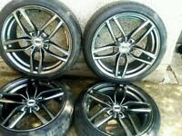 18 inch 5x110 Vauxhall / Saab alloy wheels