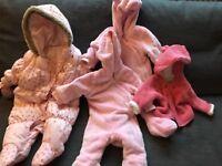 Baby Pramsuit Bundle 0-6 months girls