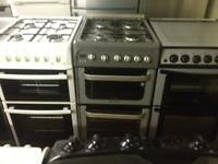 Hotpoint silver gas cooker