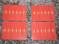NEXT Place Mats x 4. Red with orange & white spots design. VGC. Torquay. £4