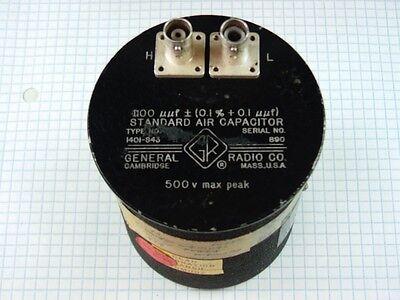 1100pf 0.1 0.1pf 500v Max 1401-s43 General Radio Air Standard Capacitor