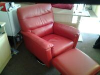 Leather swivel chair excellent condition as new