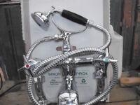 vintage chrome mixer taps