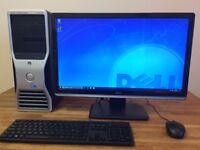 "GAMING PC Dell T3500 XEON Quad Core, 8 GB Ram, GeForce GTX 650 + 24"" DELL LED Monitor - Desktop PC"