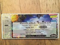 For Sale : Latitude Weekend Ticket For 1 Teenager in Family Camping