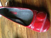 Ecco - Red patent leather size 5
