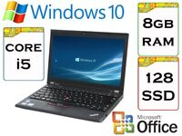 VERY QUICK – Lenovo Thinkpad x230 i5 2.5Ghz 8gb Ram 128 gb SSD Windows 10 Laptop