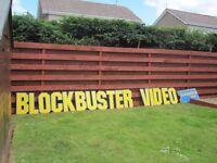 Original Blockbuster Video Shop Signs