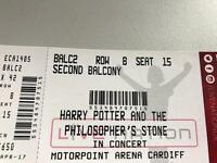 Harry Potter live in concert tickets x 2