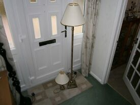 Standard lamp and matching table lamp