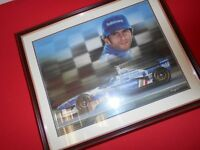 F1 picture for sale featuring one time world champion Damon Hill,great for a formula one fanatic....