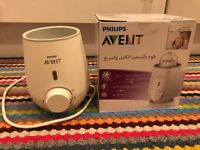 Philips Avent Sterilisation / bottle warmer/ Free Microwave steam steriliser bags