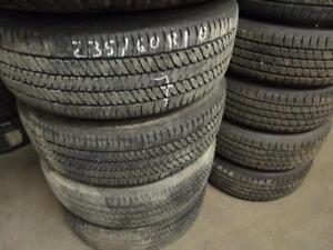 235/60R18 SET OF 4 MATCHING USED BRIDGESTONE TIRES