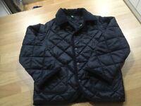 Benetton navy padded coat 3-4 years