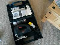 Bosch jigsaw. Skill saw blades. Diamond disks. Rachet straps. Lifting/towing slings.