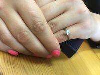 Beautiful 0.73ct diamond platinum solitaire ring