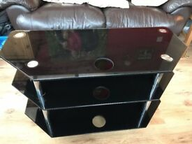 Glass Tv storage stand
