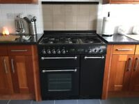 Rangemaster cooker - electric fan double oven gas hob. Excellent Condition