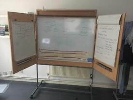 Free large office white board with flip charts - free
