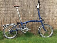 Brompton M6R bike with luggage rack :: very good condition