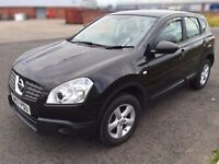 Nissan Qashqai 2007 black,1.5 L Diesel, only 61k miles, Long MOT 03/2017, 5 seater, 2 keys, Alloys