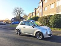 Fiat 500 LOW MILES, pearl white, pano roof, excellent condition