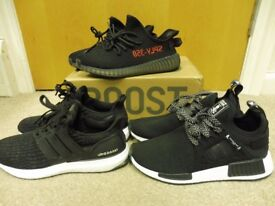 Job Lot of 3 x Pairs Boost Trainers. Size 6. Black. V 2
